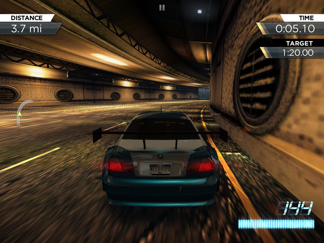 Версия iOS Need for Speed: Most Wanted для iOS отличается от консоли